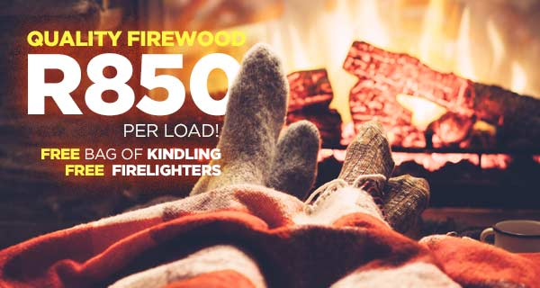 Quality Firewood R850 per load. Free bag of kindling and Free firelighters